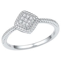 Diamond Accent CT.T.W Round Diamond Prong Set Fashion Ring in Sterling Silver (IJ-I2-I3)