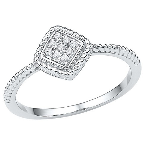 Diamond Accent CT.T.W Round Diamond Prong Set Fashion Ring in Sterling Silver (IJ-I2-I3) - image 1 of 2