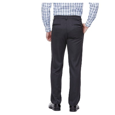 Haggar H26 - Men's Straight Fit Pants Charcoal Heather 42X30