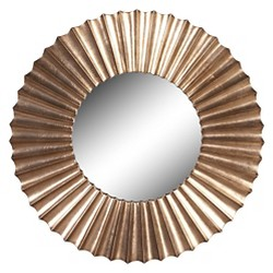Round Howard Elliot Olivia Decorative Wall Mirror - Howard Elliott