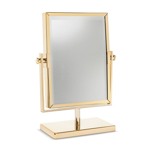 vanity mirror. West Emory  Two Sided Gold Vanity Mirror Target