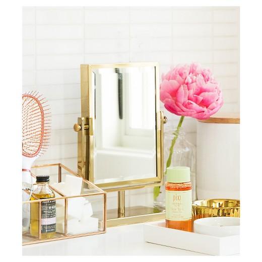 West EmoryTM Two Sided Gold Vanity Mirror