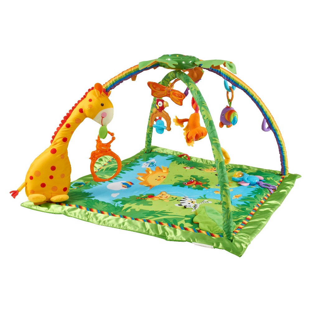 Fisher-Price Rainforest Melodies & Lights Deluxe Activity Gym, Multi-Colored