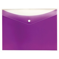 Globe-Weis® Poly Snap Envelope, Letter, Grape