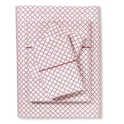 Brooklyn & Bond™ Diamond Sheet Set Queen - Red