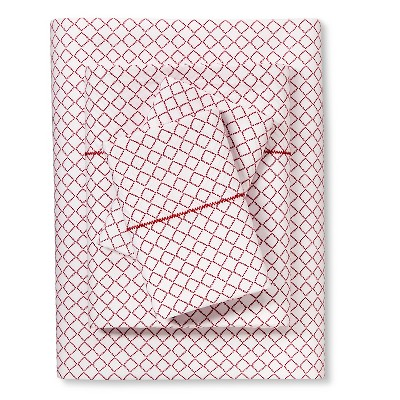 Brooklyn & Bond™ Diamond Sheet Set King - Red