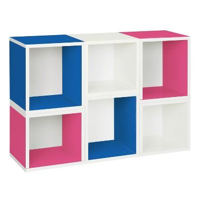 Way Basics Arlington 6 Stackable Cubes Storage   Modular Bookcase  Lifetime  Guarantee