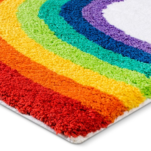 "kids rainbow bath rug (21x34"") : target"