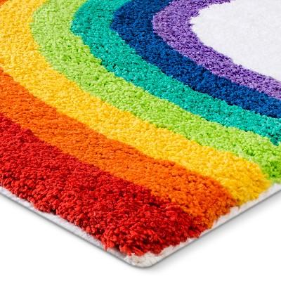 Rainbow Bath Rug Cbaarch
