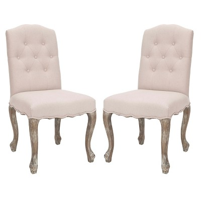 Vicky Side Chair Wood/White (Set of 2)- Safavieh