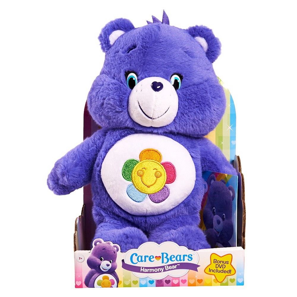 Care Bear Medium Plush with Dvd - Harmony