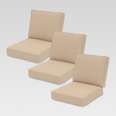 sunbrella belvedere sofa 6pc replacement cushions threshold