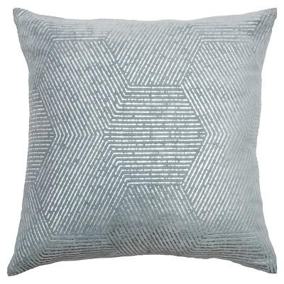 Gray Cotton Throw Pillow - Rizzy Home