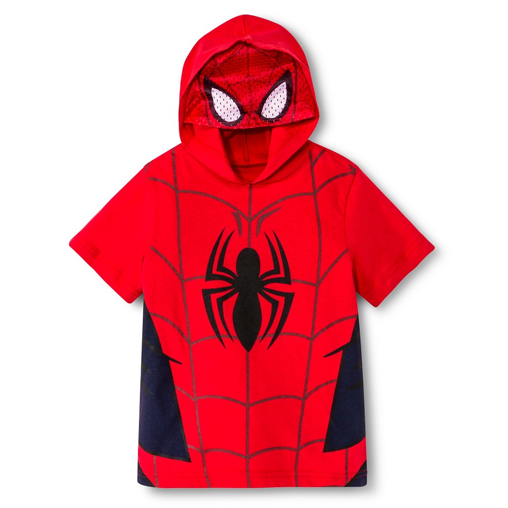 Spider-Man Toddler Boys' Mask T-Shirt - Red 4T