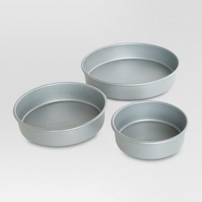 3 Piece 6, 8 and 10 Inch Round Cake Pan Set - Threshold™
