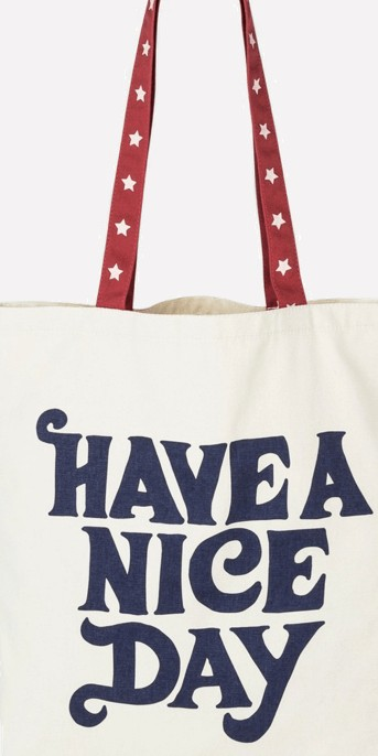 Junk Food Have A Nice Day Tote Bag - White
