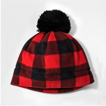 Boys' Fleece Checkered Beanie - Cat & Jack™ Red