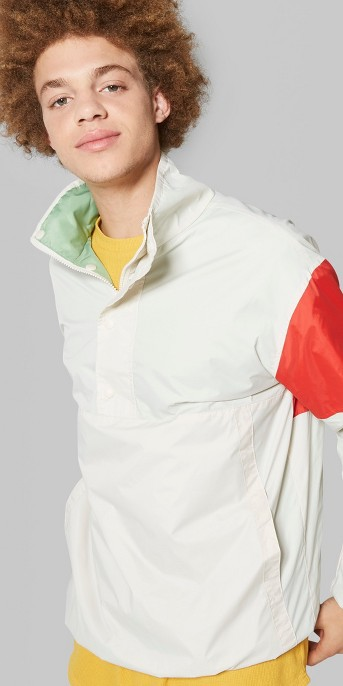 Men's Long Sleeve Colorblock Windbreaker Jacket - Original Use™ Beachcomber
