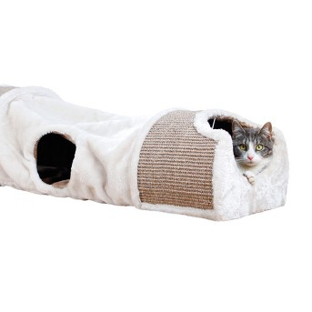 TRIXIE Pet Products Plush Nesting Tunnel for Cats