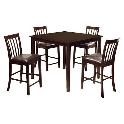 5 Pieces Monaco Dining Table Set WoodEspresso Furniture of