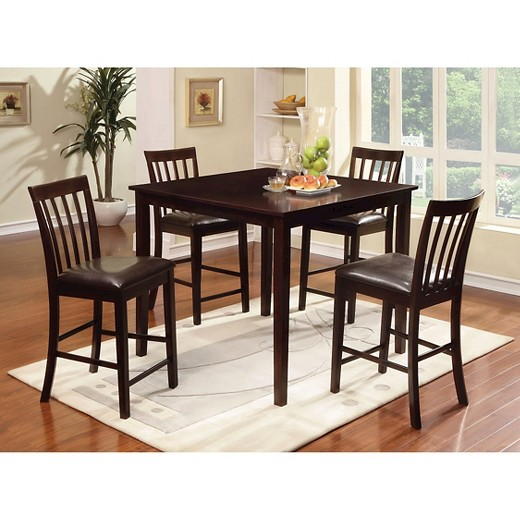 mibasics 5pcs monaco dining table set wood/espresso : target