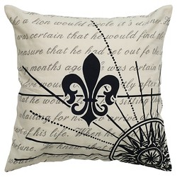 "Black Throw Pillow (20""x20"") - Rizzy Home"