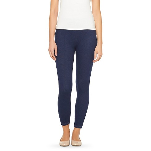 ASSETS by Spanx Women's Crop Leggings (Juniors') - Deep Indigo 1X - image 1 of 2