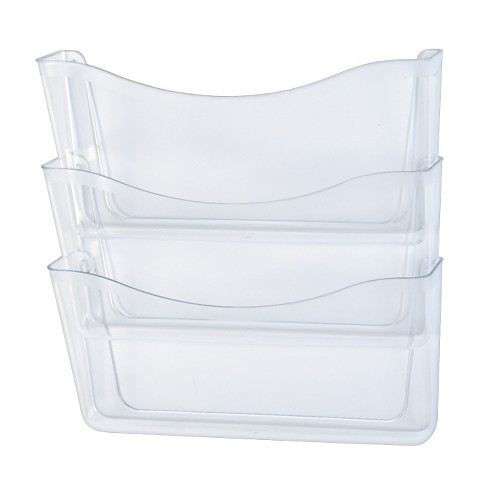 Rubbermaid® Unbreakable Three Pocket Wall File Set, Letter, Clear - image 1 of 1