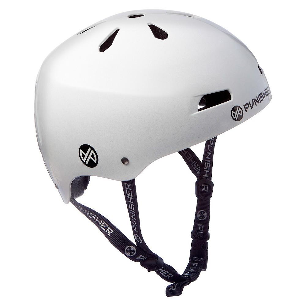 Punisher Skateboards Neon Skateboard Helmet White