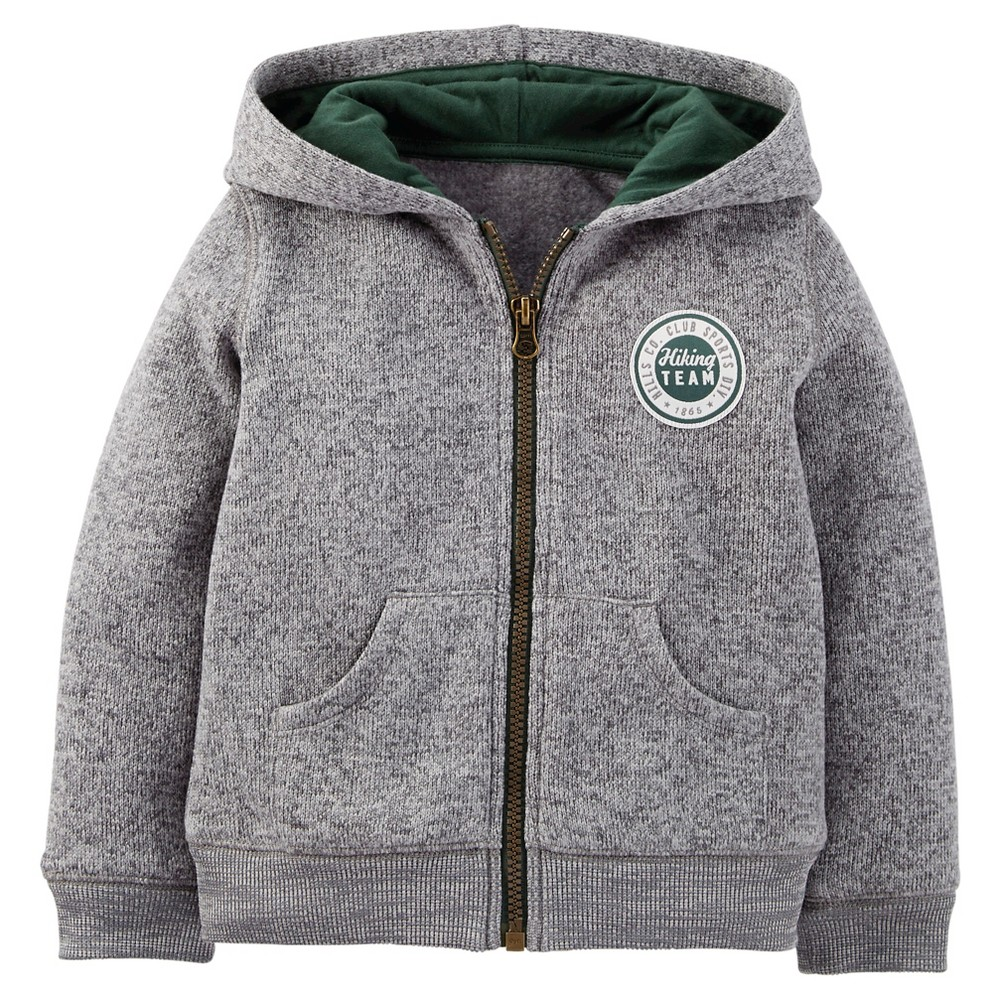 Toddler Boys Hooded Sweatshirt - Just One You Made by Carters Gray 10