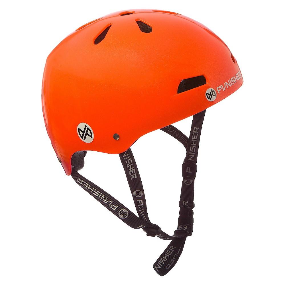 Punisher Skateboards Skateboard Helmet Neon Orange