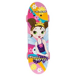 "TITAN 9273 Flower Princess Complete 17"" Girls' Pink skateboard"