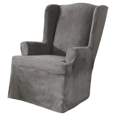 Wing Chair Slipcover Gray - Sure Fit