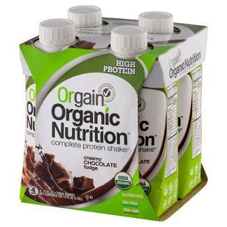Orgain Nutritional Shake - Chocolate - 11 fl oz/4pk