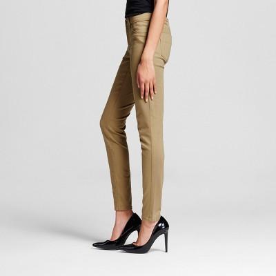 Women's Mid-rise Jegging Khaki 0R - Mossimo, Size: 0, Beige