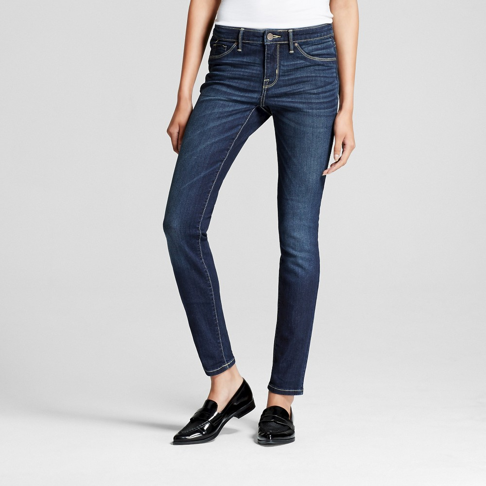 Womens Mid-rise Jegging - Mossimo Dark Wash 2 Long, Size: 2Long