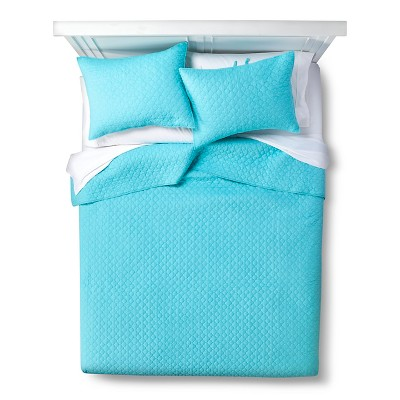 homthreads™ Cecilia Solid Quilt Set - Teal (Full/Queen)