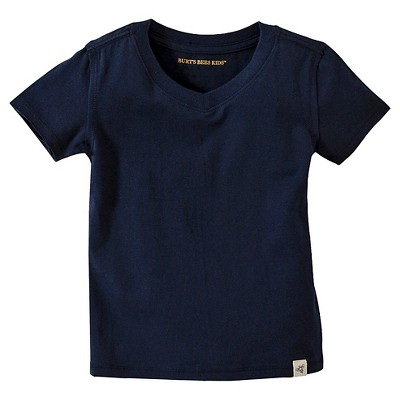 Burt's Bees Baby™ Infant Boy Solid Short Sleeve Reverse Seam V-Neck T-Shirt - Midnight 6-9 M