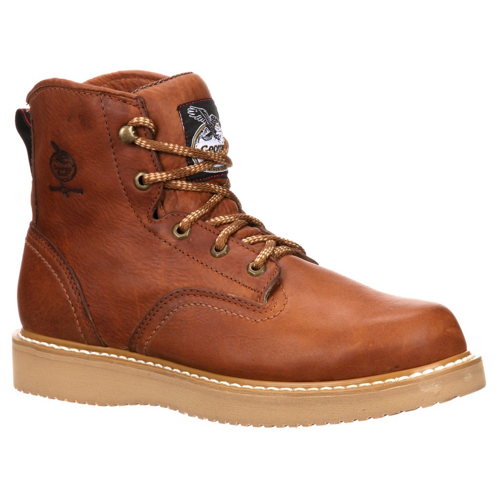 Georgia Boot Mens Wedge Boots - Barracuda Gold 6M, Size: 6