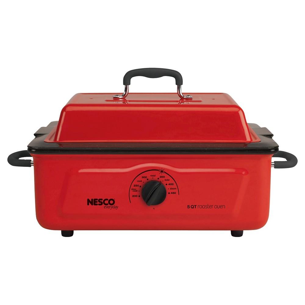 Nesco 5 Qt. Roaster- Red, Roaster Oven