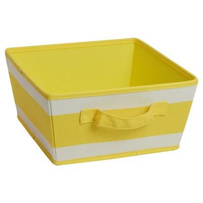 Circo™ Decorative Bin Cardboard Lemon Peel White Rectangle