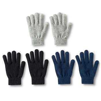 3 Pack Womens Knit Winter Gloves