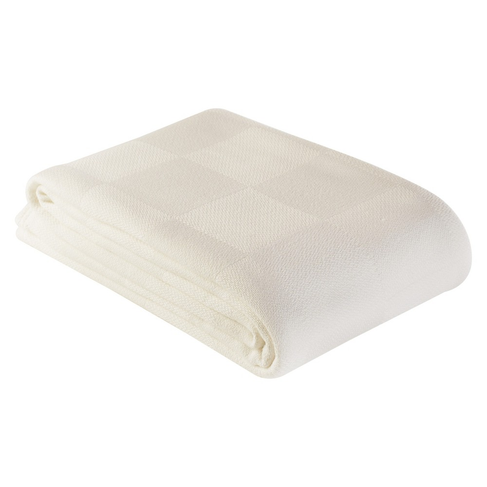The Bamboo Collection Rayon made from Bamboo/Cotton Blanket - White (Full/Queen)