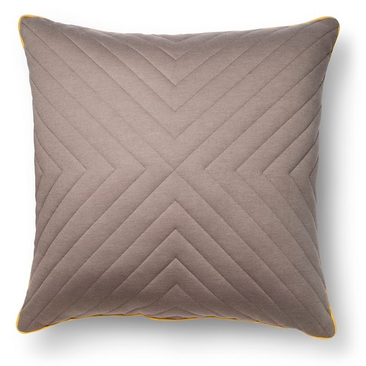 Earth Gray Oversized Quilted Throw Pillow (24