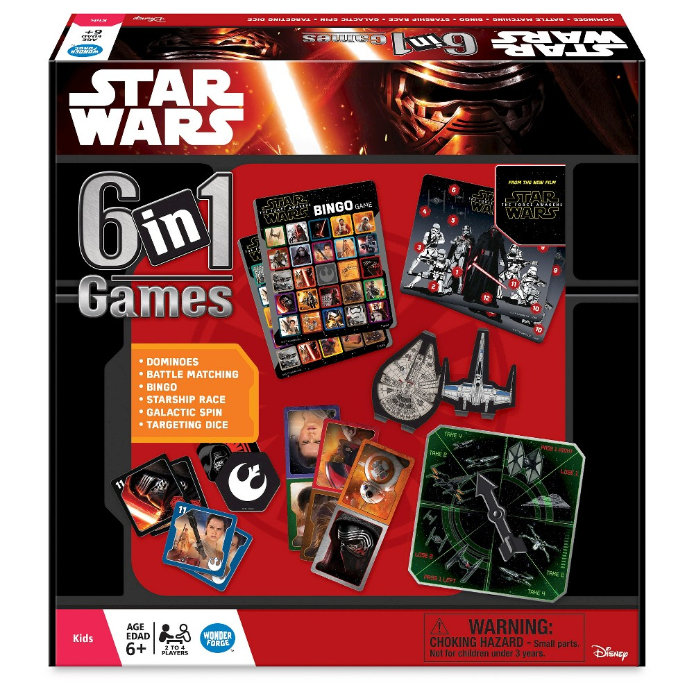 Star Wars 6-in-1 Game Set