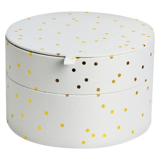 Decorative media bin white gold round xhilaration target Xhilaration home decor
