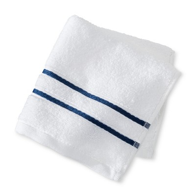 Wash Cloth White and Kettle Blue - Fieldcrest™