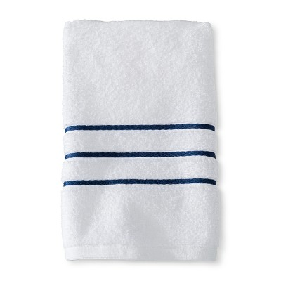 Hand Towel White and Kettle Blue Stripe - Fieldcrest™