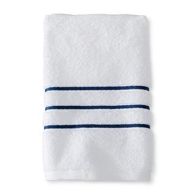 Hand Towel White and Kettle Blue Stripe - Fieldcrest™
