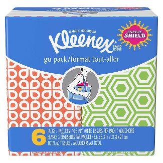 Kleenex Go Packs6pk60ct